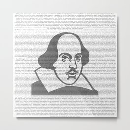 Words of Shakespeare Metal Print