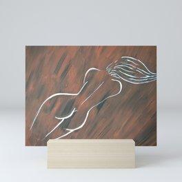 Nude woman - silhouette Mini Art Print