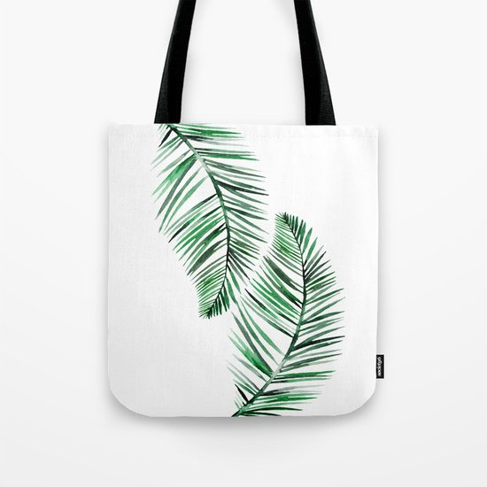 Tropical Exotic Palm Leaves on #Society6 Tote Bag