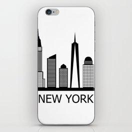 new york skyline iPhone Skin