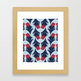 PROTEA IN COLUMBIA BLUE Framed Art Print