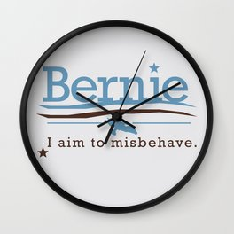 Misbehave Wall Clock