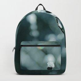 Blue frozen plants Backpack