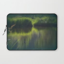turtle swimming away at Trojan pond, near Goble, Oregon Laptop Sleeve