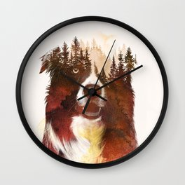 One night in the forest Wall Clock