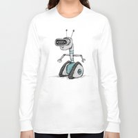 robot Long Sleeve T-shirts featuring Robot by Sophie Corrigan