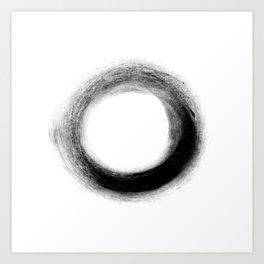 The Black O Art Print