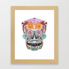 Floral Skull Mask II Framed Art Print