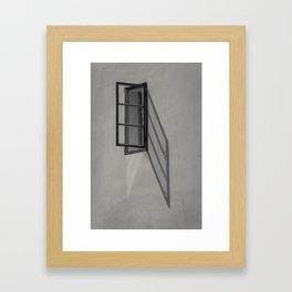 Window - BW Framed Art Print