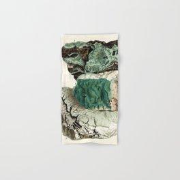 Vintage Mineralogy Illustration Hand & Bath Towel