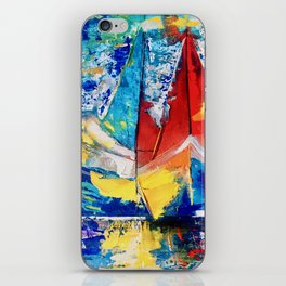 Red boat leads iPhone Skin