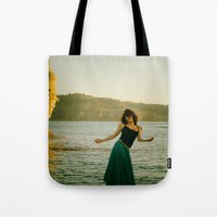 portugal Tote Bags featuring Dance Portugal by Sébastien BOUVIER
