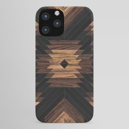 Urban Tribal Pattern No.7 - Aztec - Wood iPhone Case