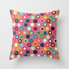 pink pop spot Throw Pillow