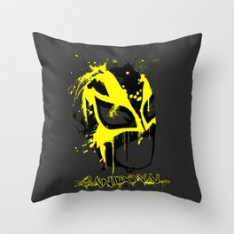 Sandoval Painted Mask Throw Pillow