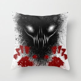 Bloody Hands Throw Pillow