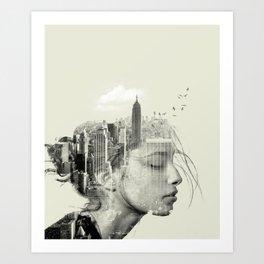 Reflection, New York City Art Print