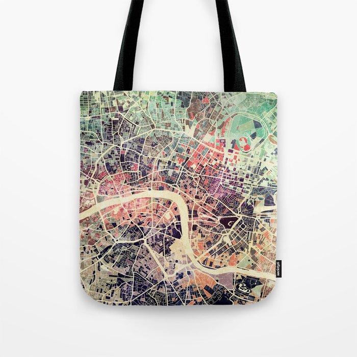 London Mosaic Map #1 Tote Bag