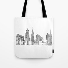 NYC Landmarks by the Downtown Doodler Tote Bag
