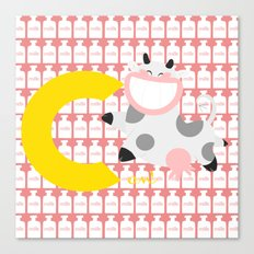 c for cow Canvas Print