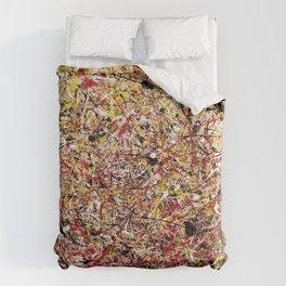 TENDER SUN - Jackosn Pollock style drip painting art design, dripping design, splash patern modern art Comforters