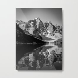 Moraine Lake (Black & White) Metal Print