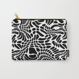 Black And White  Odd Shapes Hand Drawn Pattern Carry-All Pouch