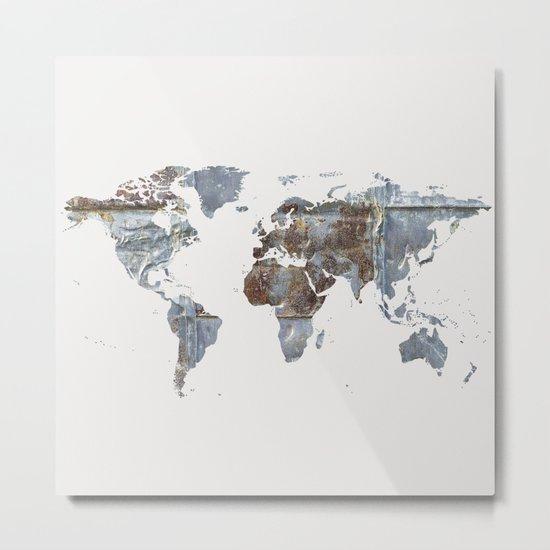 World Map(metal) Metal Print