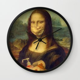 Mona Lisa mask Wall Clock