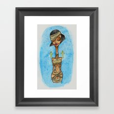 Mummy Pinup Framed Art Print