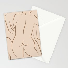 Nude figures Stationery Cards