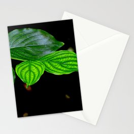 Green leafs by Laila Cichos Stationery Cards
