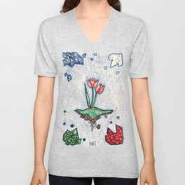 Floating Tulip Unisex V-Neck