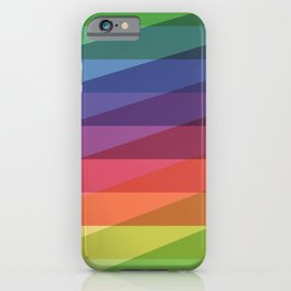 Fig. 040 Rainbow Stripes iPhone Case
