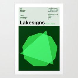 Lakesigns Poster - SXSW 2012 (3 of 4) Art Print