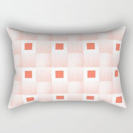 Rachel's Wavy Coral Pattern Rectangular Pillow