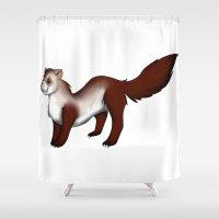 ferret Shower Curtains featuring Ferret! by Sarah Engbretsen