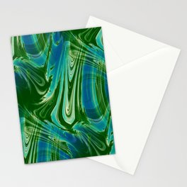 Tropical Colors Abstract Stationery Cards