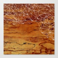 wooden Canvas Prints featuring Wooden Wireframe by Jenna Mhairi