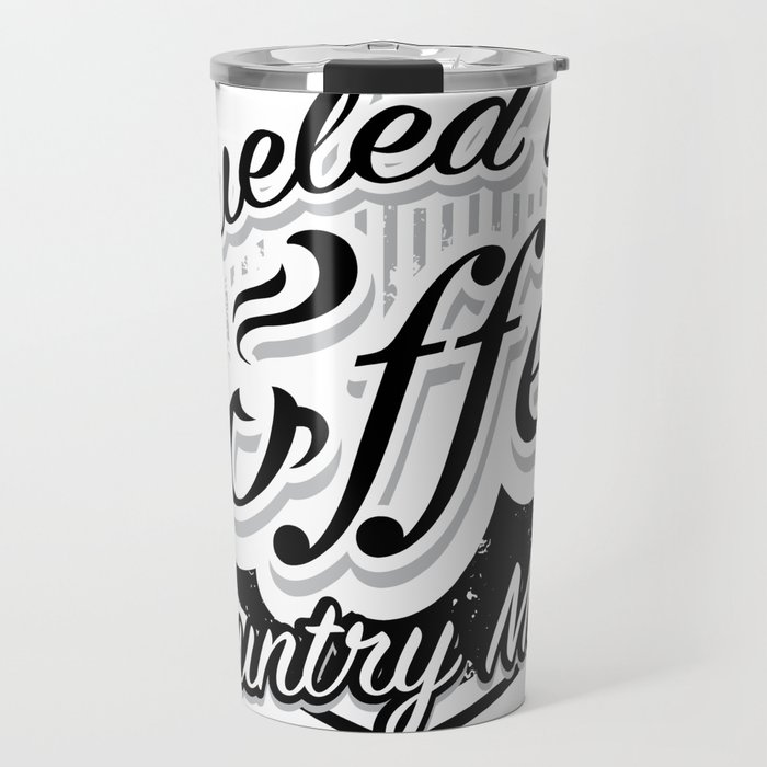 Coffee And Country Music Funny Musicians Gifts Travel Mug