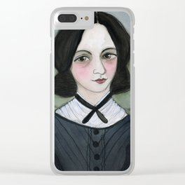 Emily Bronte and her Wuthering Heights Clear iPhone Case