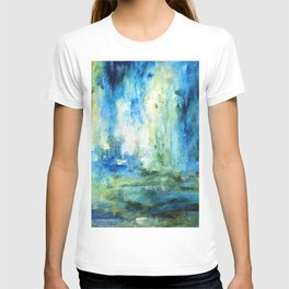 Contemporary Abstract Painting Spring Rain T-shirt