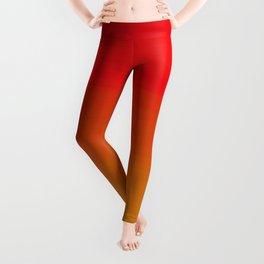 Red Apple and Golden Honey Ombre Sunset Leggings