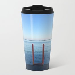 Lake Michigan in Winter, Chicago Travel Mug