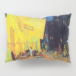Vincent Van Gogh - Cafe Terrace at Night (new color edit) Pillow Sham