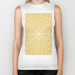 Single Snowflake - Yellow Biker Tank