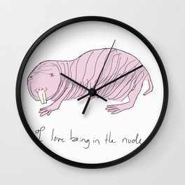 I love being in the nude. Wall Clock