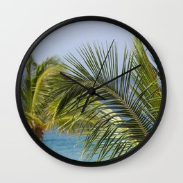 Keep Palm Wall Clock