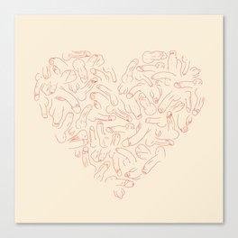 Penis Heart Canvas Print