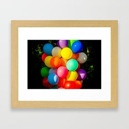 Colorful Toy Balloons Framed Art Print